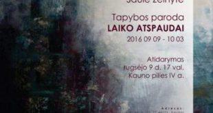 """SAULĖS ŽELNYTĖS TAPYBOS PARODA """"LAIKO ATSPAUDAI"""""""