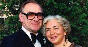 Baniutė Mašiotaitė su vyru Romu Kronu