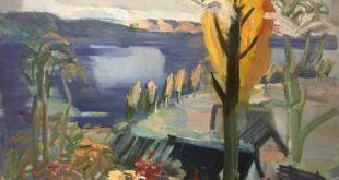 """M. Kulikauskienė - """"Sodyba rudenį"""" (1988 m.)"""